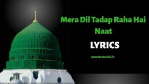 mera-dil-tadap-raha-hai-naat-lyrics