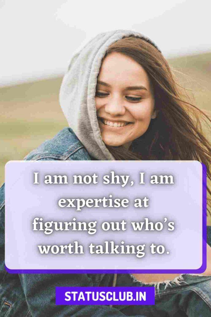 shy whatsapp status in english