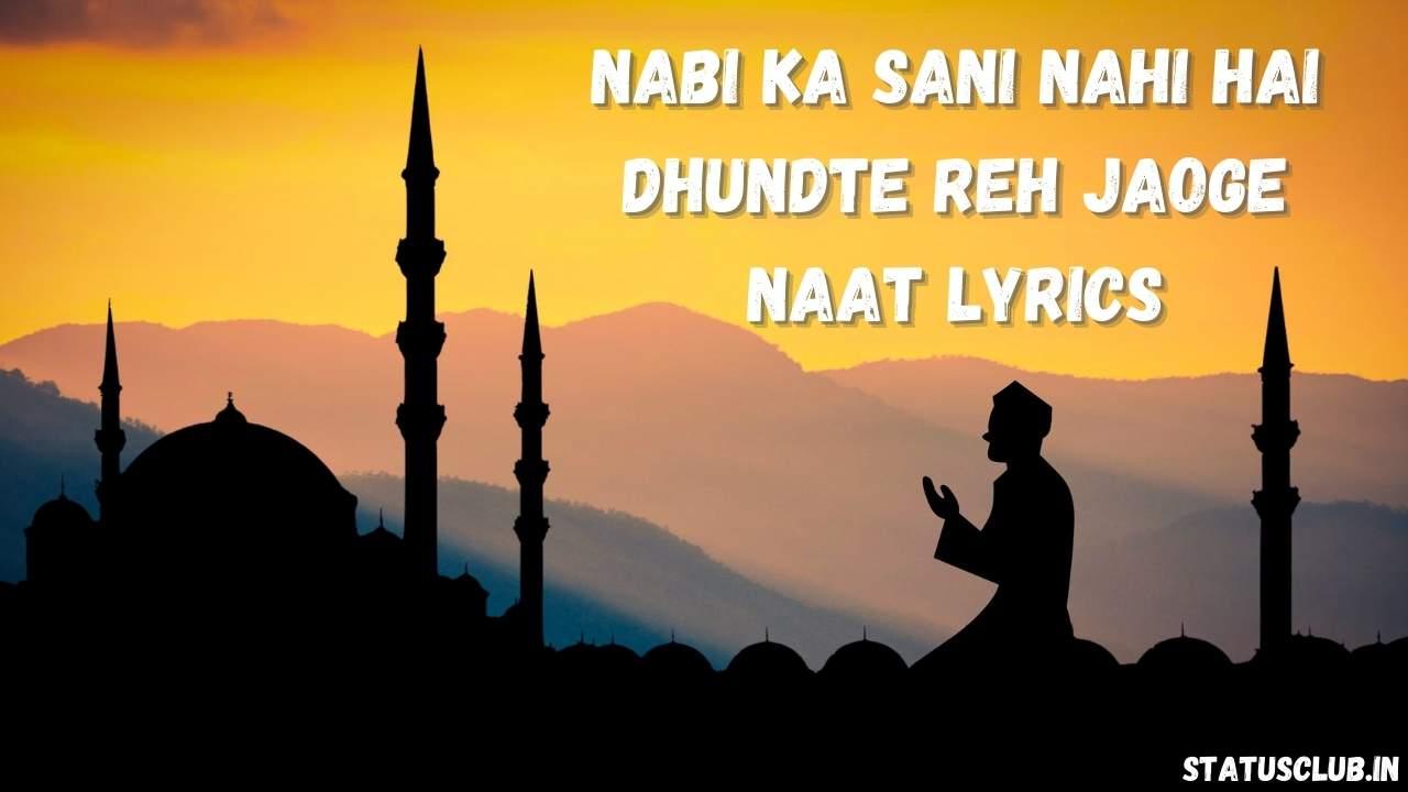 Nabi Ka Sani Nahi Hai Dhundte Reh Jaoge Lyrics